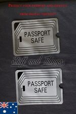 RFID BLOCKING SLEEVE x 2, Secure Passport Protector. ANTI THEFT SCAN SAFE