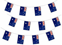 20 Flags 10m 33ft Australian Bunting Australia Football Aussie Rugby Cricket