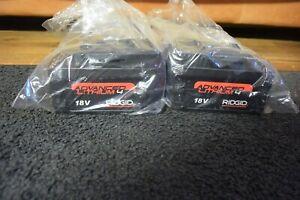 2 Ridgid Model Advanced Lithium 4 18V Batteries    NEVER USED RP 330 340 350 210