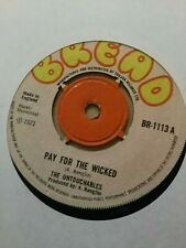 Untouchables - Pay For the Wicked 1973 UK Bread Roots Reggae Ex Cond