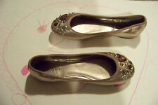 womens xhilaration gold beaded slip on ballet flats shoes size 5 1/2