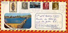 ESPAÑA 5 sellos matasellados 1977 sur lettre. L 10