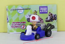 Super Mario Bros Figure 6cm Pull Back Car RED TOAD