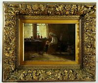 Oil on Canvas  Signed David Birdsey Walkley Dutch Interior