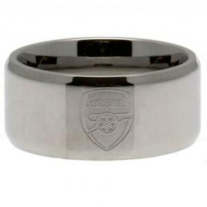Official ARSENAL FC Stainless Steel Band RING Gunners Gift