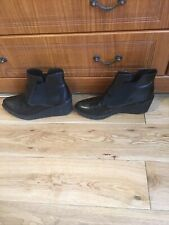 Ladies Wedge ankle Boots Size  Uk 4D By Clarks Nearly New
