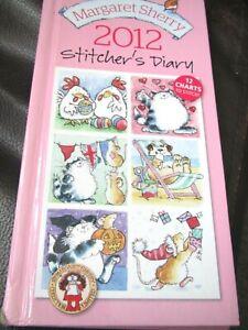 Margaret Sherry 2012 Stitchers Diary.  12 Cross Stitch Charts