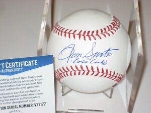RON SANTO (Chicago Cubs) Signed Official MLB Baseball + Beckett COA & GO CUBS
