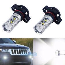 2Pcs 50W White LED Fog PSX24W Light Bulbs Lamp For Jeep Grand Cherokee 2011-2012
