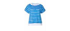 Sheego Batik Effect 2-in-1 Top Blue Size UK 24 LF074 AA 16