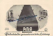 KLEIN-AUHEIM Werbung 1952 Hessisch Gummiwaren-Fabrik Fritz Peter AG Förderbänder