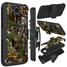 Hybrid Shockproof Hard Armor Como Phone Case Cover For LG X Power 2 / Fiesta LTE