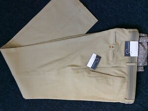 Gurteen Mens Stone coloured stretch Cotton Chino trousers  -  BNWT - MANY SIZES