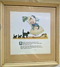"""Mabel Lucie Attwell An you know what men are 8/""""x10/"""" Mounted Print Vintage Art"""