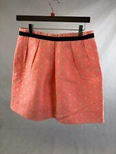 SANDRO, Ladies Electric Pink / Cream Patterned Mini Skirt, UK12/EU40, RRP £180