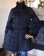SCERVINO STREET Women Puffer Coat Color Black NWOT Size IT44/US10 MSRP 465$
