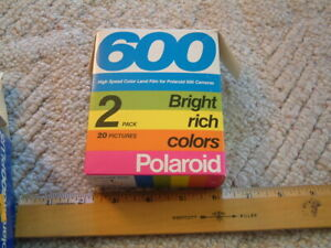 Vintage Polaroid 600 Plus Instant Color Film 2 Pack 20 Pictures Expired 10/86