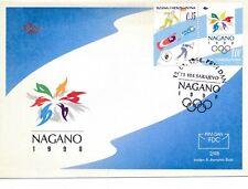 1998 Winter Olympics Nagano Japan, FDC.