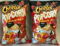 Frito Lay Cheetos Flamin' Hot Popcorn Lot of 2 -6.5oz Best By 7/28/20 Free Ship