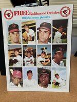 1969 Baltimore Orioles book of uncut player cards - complete - Jim Hardin Estate