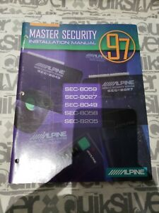 Alpine 97 Master Security Installation Manual