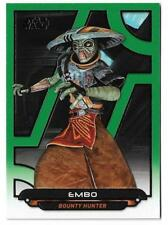 2017 Topps Star Wars Galactic Files Reborn Green ACW-16 Embo #110/199