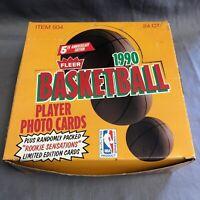1990-91 FLEER NBA Basketball JUMBO CELLO BOX! 24 Packs 43 Cards Each! Jordan!