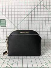 NWT Michael Kors Emmy Dome Medium Crossbody Saffiano Leather in Black