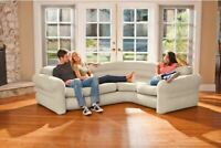 Futon Bed Couch Inflatable Sofa Sectional Sleeper Living Room Furniture Loveseat