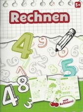 Übungsheft + Rechnen + Zahlen + Mathe + Mit Aufklebern + Vorschule ab 5 Jahre
