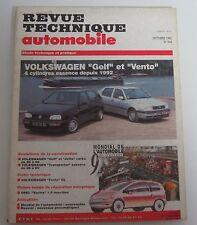 Revue technique RTA 544 Volkswagen golf & vento 4cyl essence 1992 ->