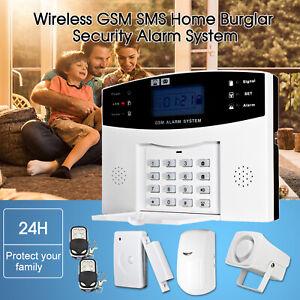 GSM SMS SENZA FILI ALLARME ANTIFURTO SISTEMA CASA SENSORE Alarm WIRELESS 5A5S