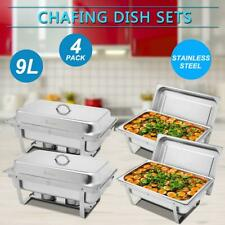4 Pack 9L Catering Stainless Steek Chafer Chafing Dish Sets 8 Qt Party Chaf 2020