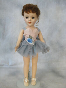 """Vintage 14"""" Mary Hoyer Hard Plastic Doll Brunette Tagged Ballet OF High Color NM"""