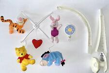 Winnie The Pooh Vintage Mobile Mini Bean Bag Baby Crib Musical Rare HTF Works