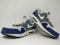 Nike Air Max 1 GS Essential | White Grey Blue | UK 7 | EU 41