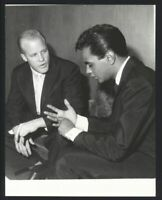 1960 JOHNNY MATHIS & PHILLIP CROSBY Candid Vintage Original Photo SINGER gp