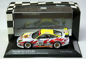 """MINICHAMPS Porsche 911 GT3 Rs """" 24 H Le Mans 2003 Alex Job Racing,M.1: 43,Boxed"""