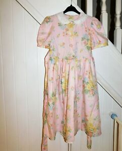 LAURA ASHLEY MOTHER & CHILD - AGE 9 YEARS PRETTY VINGAGE FLORAL SUMMER DRESS