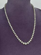 "Art Deco Graduated PEARL Strand  22"" Akoya Pearl Necklace with Pearl Clasp  4-8m"