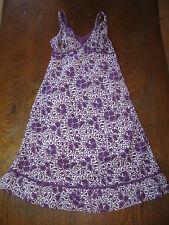 Robe midi à bretelle imprimé fleuri violette et blanche - doublée - 38