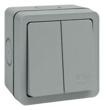 Hager WXPPS22 Weatherproof Light Switch IP66 2 Gang 2 Way 10 Amp