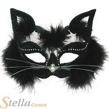 Noir Transparent Masque Chat Serre-tête Maquerade Costume Déguisement Bal