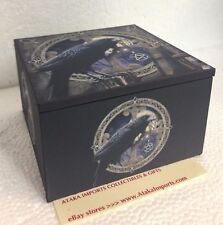 Pagan Witchcraft Raven Pentagram Trinket Jewelry Keepsake Mirror Box Lisa Parker