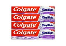 4x 100ml Colgate Max White Shine Crystals Toothpaste Zahnpasta mit Fluorid NEU