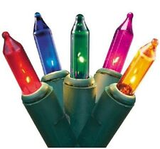 2 Boxes - Holiday Time 100 Multi-Color Mini Christmas Lights w/Optional Blinking