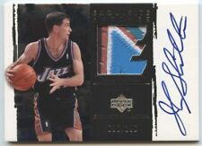 John Stockton 2003 04 UD Exquisite Collection Game-Used 4 Color Patch Auto /100