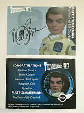 THUNDERBIRDS 50 YEARS Autograph Card Matt Zimmerman as Bill Cradock