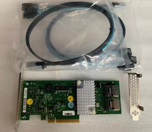 LSI 9211-8i IT MODE for ZFS FreeNAS Unraid + 2x MINI SAS 8087 to 4x SATA