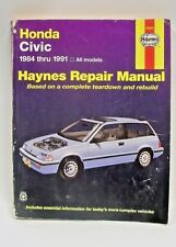 Haynes Honda Civic 1984 - 1991 All Models Car Repair manual